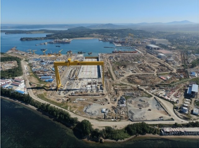 В Приморье досрочно построен сухой док - один из крупнейших в мире
