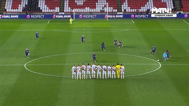 Игроки «Славии» вновь не встали на колено перед матчем с «Арсеналом»