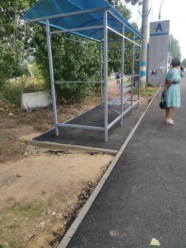 И так сойдет! В Ульяновске поставили новую остановку... задом наперед