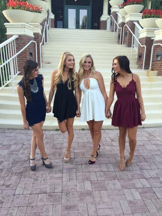 Полные девушки в шикарных платьях