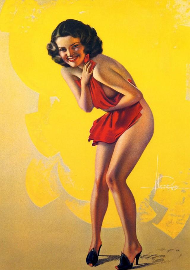 Пин ап открытка 1960, мой