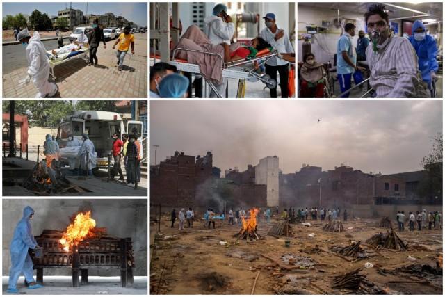 Индийские больницы на грани коллапса, а печи крематория плавятся из-за круглосуточного использования