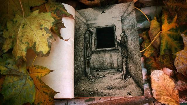 Мои рисунки в блокноте гелевой ручкой