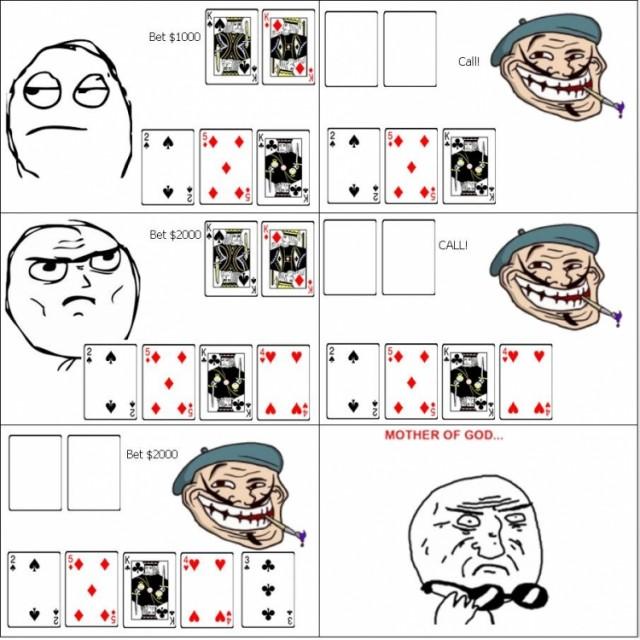 Смешная картинка покер