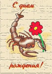 Целующиеся смайлики, открытки со скорпионом