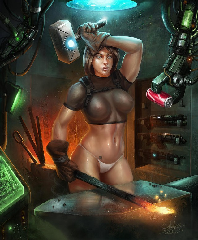 Kinky Science Fiction With Lusty Topless Ladies