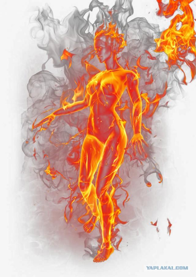 картинки огонь на теле цветение