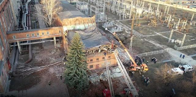 В Тамбове обрушилось здание ТЭЦ