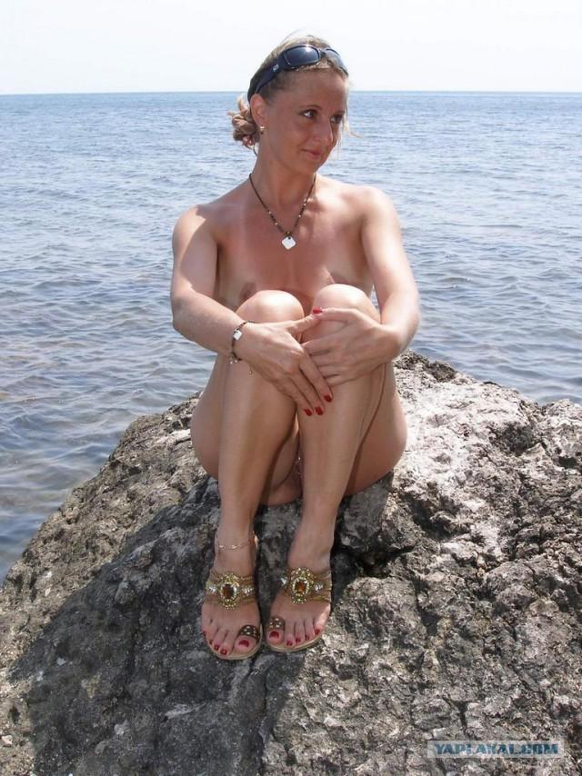 Русская жена на море зрелые частное фото
