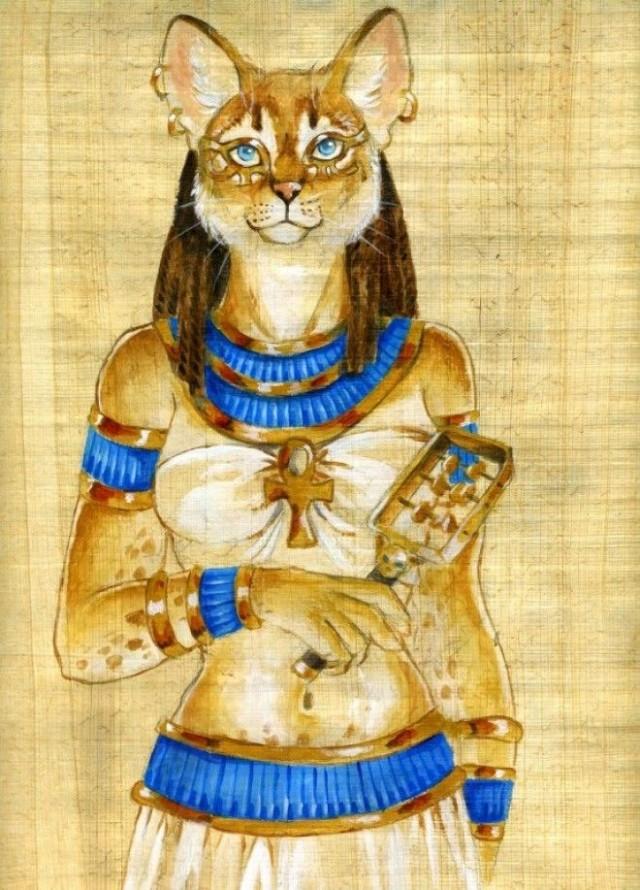 коты в египте рисунок основе данных растительных