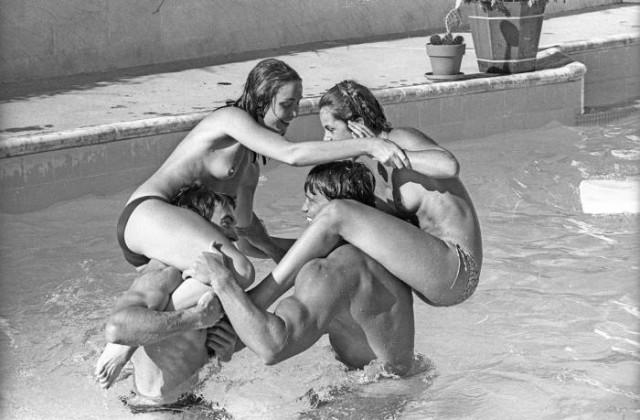 Arnold Schwarzenegger & Nastassja Kinski by Michael Ochs '1976