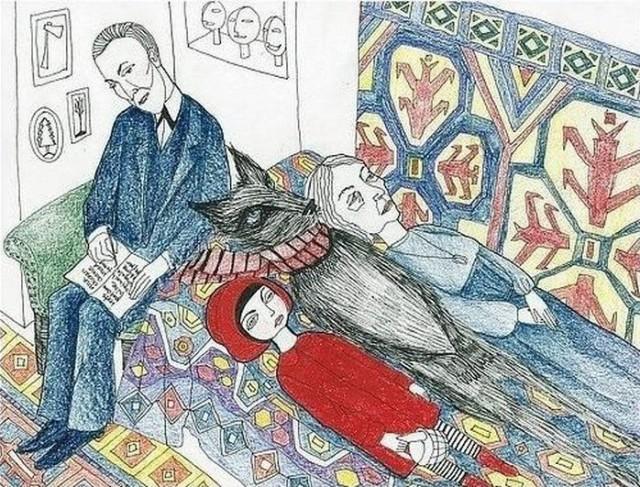Доктор Фрейд, Красная Шапочка, волк и бабушка - ЯПлакалъ
