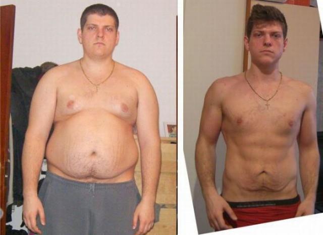 Парень очень быстро похудел