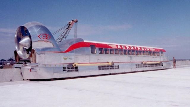 Гибрид поезда с реактивным двигателем и на воздушной подушке